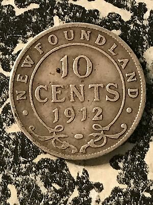 1912 Newfoundland 10 Cents Lot#6014 Silver!