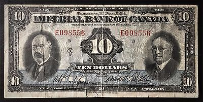 1934 Imperial Bank of Canada $10 - Fine *Tear