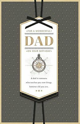 For A Wonderful Dad On Your Birthday Natical Luxury Large Card
