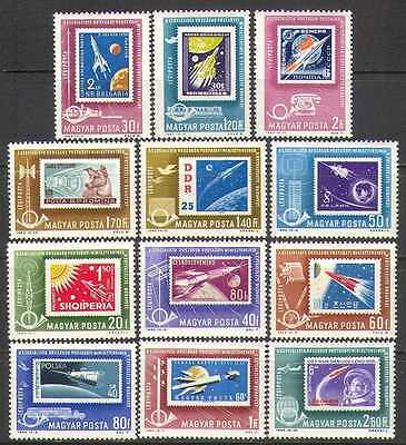 HUNGARY -1963- CONF. OF POSTAL MINISTERS OF COMMUNIST COUNTRIES -- MNH 12 Stamps