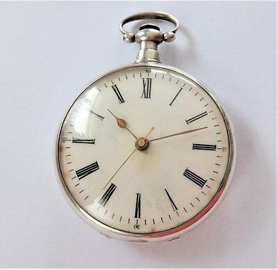 1880 Silver Cased Chinese Market Lever Pocket Watch With Bat-Wings To Balance