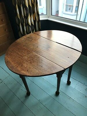 Antique Country Style drop leaf dining table