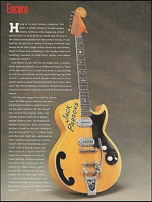 Jack Parsons Vintage Bigsby Maple Hollow Body Electric Guitar 8 x 11 article
