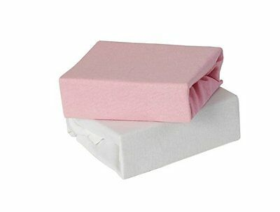 Baby Elegance Travel Cot Fitted Sheet (Pack of 2 Pink)