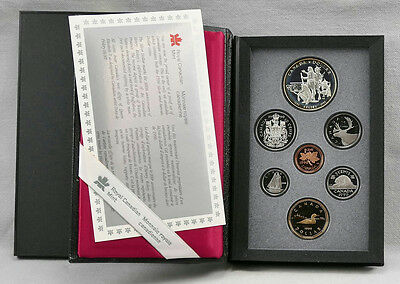 Canada 1990 Double Dollar Kelsey Proof Set! One IS Silver!