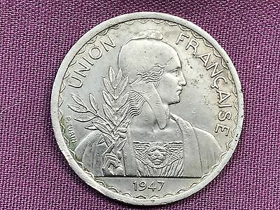 T2: World Coin French IndoChina 1947 1 Piastre