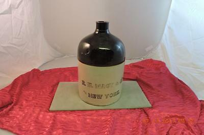 Antique Stoneware Store Advertising Bee Hive Crock Jug R.H Macy & Co New York