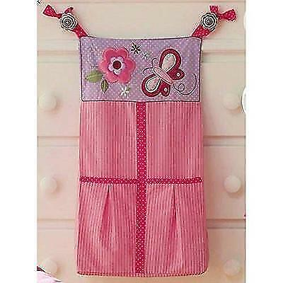 Butterfly Blossoms Girls Baby Diaper Stacker Pink Flowers New