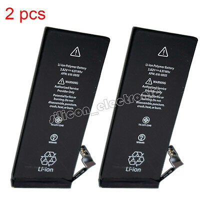 2Pcs Replacement Battery For iPhone 6 A1549 A1586 A1589 616-0804 616-0805/0809