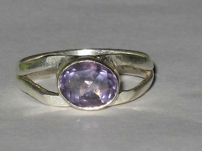 Amethyst Gem Ring 925 SZ 9 Witch Estate LAW O ATTRACTION OPEN 3RD EYE VISIONS