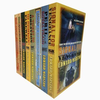 Edward Marston Railway Detective 8 Books Collection Set Signal for Vengeance NEW