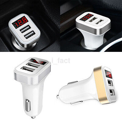 Car Charger 5V 2.1A Dual USB Fast Charging LED Adapter Universal For Cell Phone