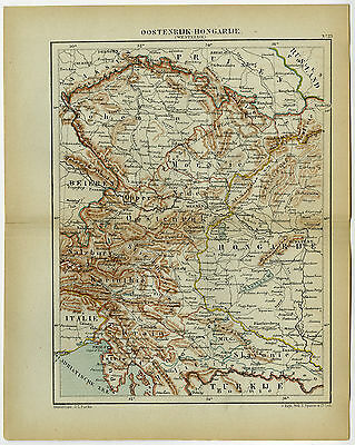 Antique Map-AUSTRO-HUNGARIAN EMPIRE-AUSTRIA-HUNGARY-Kuyper-1882