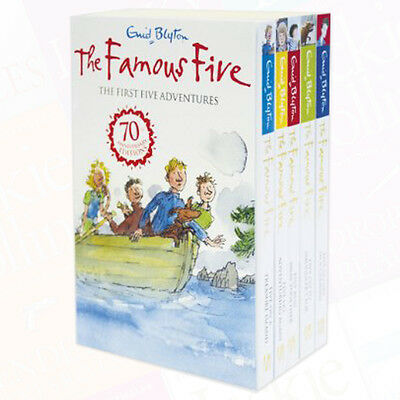 Enid Blyton Famous Five Collection 5 Books Set The First Five Adventures NEW