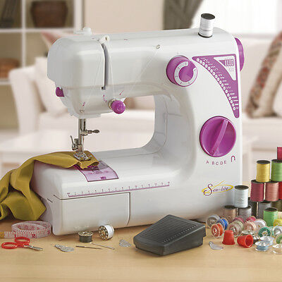 Sew-lite Compact Lightweight Portable Multi-Function Foot Pedal Sewing Machine