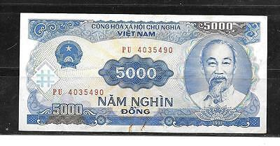 VIETNAM 108a 1993 5000 DONG VG CIRCULATED BANKNOTE PAPER MONEY CURRENCY NOTE