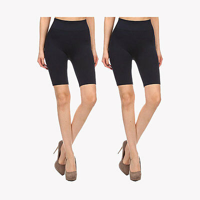 Yelete SML508SD Womens Seamless Biker Exercise Shorts