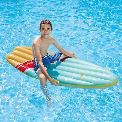"""Intex 70"""" Inflatable Durable Surf's Up Mat Beach Swimming Pool Float Lounger Toy"""