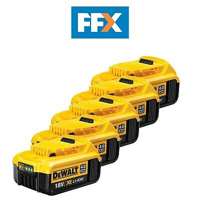 DeWalt Genuine DCB182X5 Pack of 5 18v 4.0Ah XR Li-Ion Battery Packs