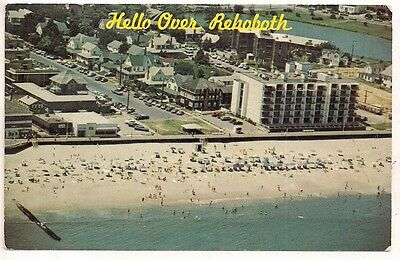 Aerial Lake Gerar and Patrician Towers Rehoboth DE Sussex Postcard 070217