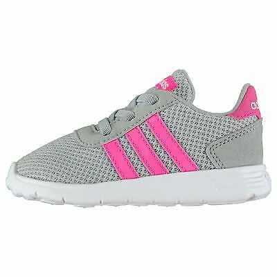 adidas Kids LiteRacer Infant Girls Shoes Running Cross Training Sports