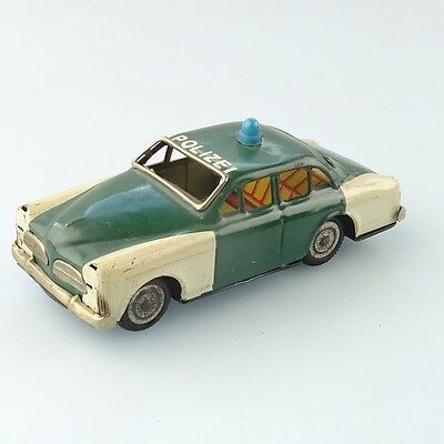 Blech Volvo Amazon Polizei made in Japan 14cm mit Friktion #977