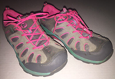 hiking merrell kids shoes girls size 4 chameleon low lace kid shoe youth lace