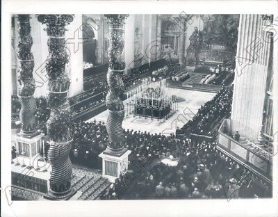 1939 Rome Italy Basilica of St Peters Mass for Pope Pius XI Death Press Photo
