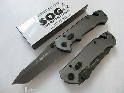 SOG Flash Tanto Rescue Liner Lock Folding Knife - NEW