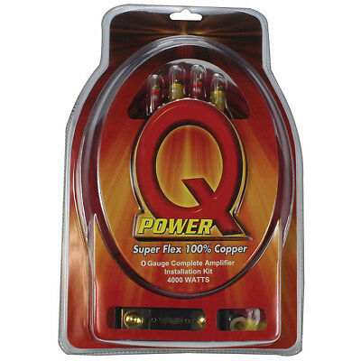 QPOWER  Qpower 0 Gauge amp kit 100% Copper