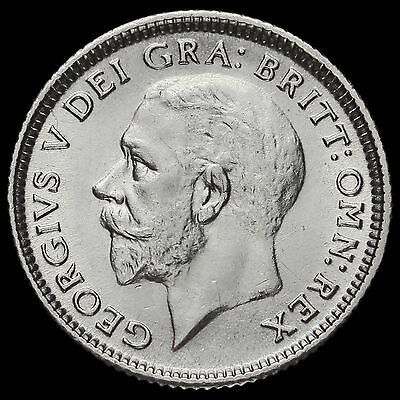 1926 George V Silver Sixpence, Third Coinage Modified Effigy, G/EF #2