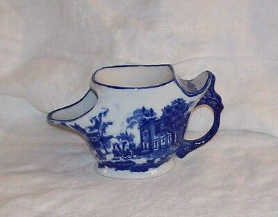 Victoria Ware Ironstone Flow Blue and White Shaving Scuttle Mug Perfect
