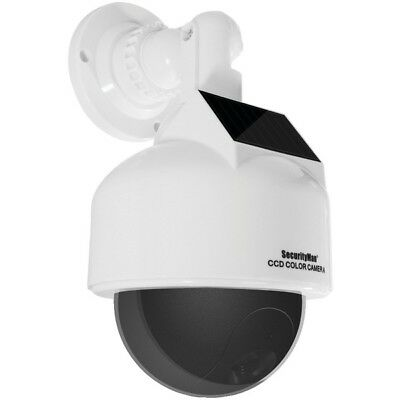 SECURITYMAN DUMMYDOME  Solar-Powered Speed Dome Dummy Camera with Flashing LED