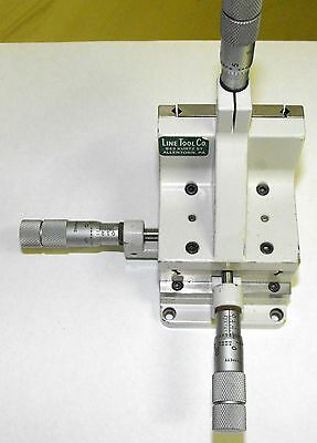 Great Line Tool Model A-RH XYZ Linear Translation Stage, with Three Micrometers