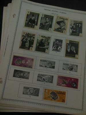 EDW1949SELL : FUJEIRA Mint & Used collection, all different on album pages.