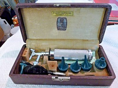 Vintage Welch Allyn Diagnostic Otoscope Ophthalmoscope Set