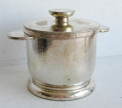 Antique NYC New York Central Railroad Silver Plate Covered Sugar Bowl & Lid