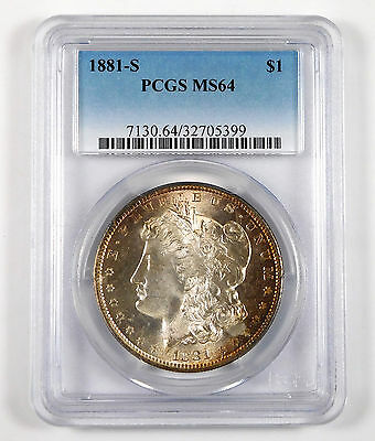 1881-S Morgan Silver Dollar - PCGS MS 64