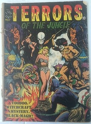 Terrors Of The Jungle #17    Star Publication May 1952 LB Cole Cover