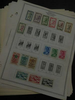 EDW1949SELL : MOROCCO Mint & Used collection, all different on album pages.