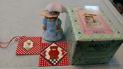 Vintage DATED 1987 Enesco Lucy & and Me EASTER Bear Girl with Bonnet & Parasol