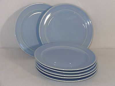 Vintage Luray LuRay Pastels China Blue Bread & Butter Plates (8)