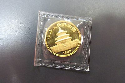 1986 China Gold 1/10 oz Panda Coin Sealed Mint Package -C-