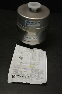 MV Products 340050 Posi-Trap Single Stage Vacuum Inlet Trap (NOS)
