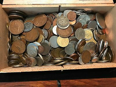 T2: Lot of 5 Pounds + World Coins including Silver