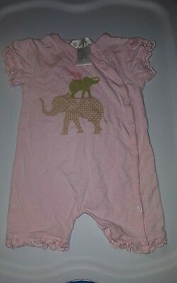 Lucky Jade girls infant baby romper onepiece 6-12 month pink