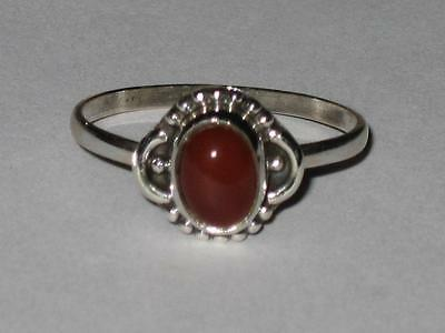 Carnelian Ring 925 7 Witch Estate WEIGHT LOSS GOOD HEALTH MOTIVATION WILLPOWER