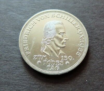 1955F Silver Scarce Germany 5 Mark Coin, Au+ Condition, Lot #144