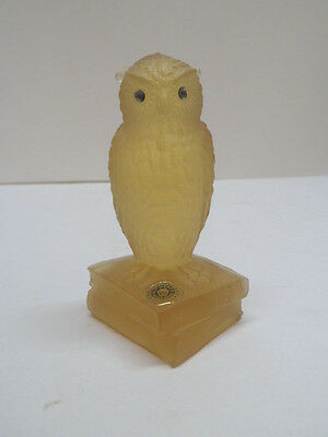 Westmoreland Pale Yellow Glass Owl Paperweight