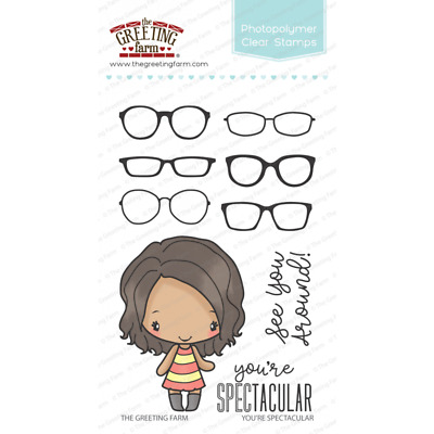 YOU'RE SPECTACULAR ANYA Stamps/Die Set-The Greeting Farm-Stamping Craft-Glasses